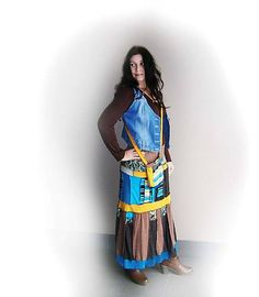 LEL-handmade / lel, tyrkys,žltá,čokoláda 2 +kapsa Tie Dye Skirt, New Look, Boho, Skirts, Fashion, Moda, Fashion Styles, Bohemian, Skirt