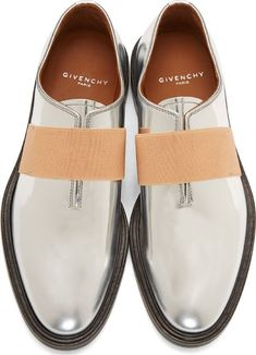 Givenchy Silver Leather Loafers