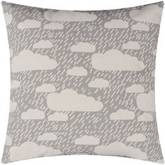 Donna Wilson Rainy Day Pillow - Grey ($49) ❤ liked on Polyvore featuring home, home decor, throw pillows, grey, gray accent pillows, grey toss pillows, gray home decor, grey throw pillows and donna wilson