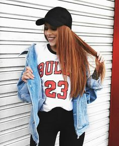 chicago bulls and jeans jacket ☀️