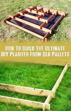 How To Build The Ultimate DIY Planter From Old Pallets - This is a great spring project that can transform the look of your garden. Check out Craigslist or your local shops to see if they have any pallets. I love this little project. This planter would be great with vegetables, herbs or just normal plants.