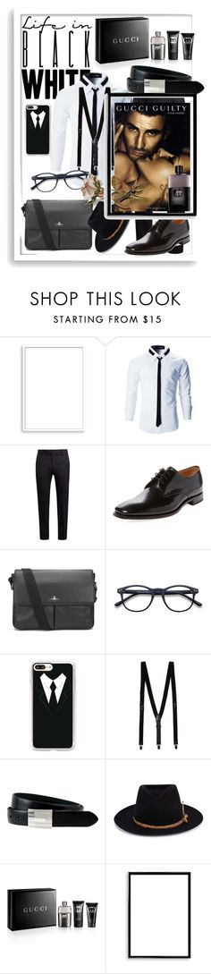 """""""Untitled #2814"""" by princhelle-mack ❤ liked on Polyvore featuring Bomedo, Marni, Loake, Vivienne Westwood, Casetify, Topman, The British Belt Company, Nick Fouquet, Gucci and men's fashion"""