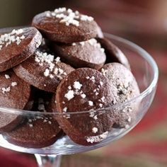 Santa would love a glass of fruity Italian wine and a few of these Chocolate Cayenne Cocktail Cookies