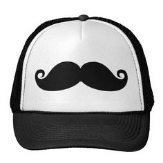 Funny Vintage Black Mustache Mesh Hats
