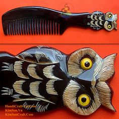 Real-horn-kam-gravure-owl-black-horn-063