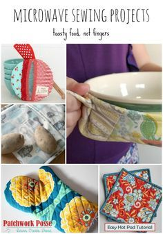 Microwave Projects you can Sew - these are great for keeping the heat away from my fingers!