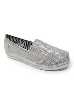 Take a look at this Silver Venus Slip-On Shoe by Little Angel on #zulily today!
