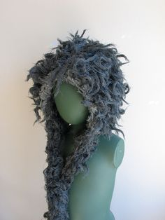 A Hood of Charcoal Storm to Cozy Your Tempestuous Self OOAK. $ 55.00, via Etsy.