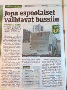 Weak signals even from Espoo, Finnland's car capital: share of car traffic decreasing, public transport, biking walking and car-free households increading.