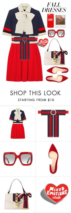 """""""Untitled #4595"""" by licethfashion ❤ liked on Polyvore featuring Gucci, Shoes of Prey and Impossible Project"""
