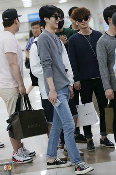 150601: EXO Oh Sehun; Shanghai Airport to Gimpo Airport #exok #fashion #style
