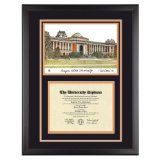 Oregon State University Diploma Frame with OSU Lithograph Art PrintBy Old School Diploma Frame Co.