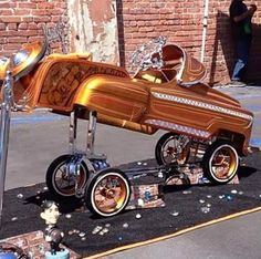 64 Impala Lowrider Pedal Car With Car Club Plaque Pedal