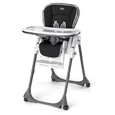 Chicco Vinyl Polly High Chair, Rainfall