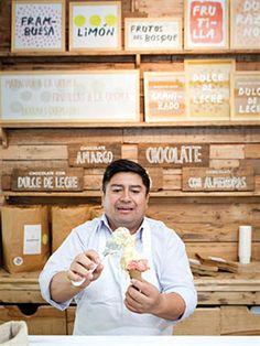 Dónde probar los helados más ricos de Buenos Aires  Guardiola, con helados artesanales y detalles en madera.         Foto:Erika Rojas