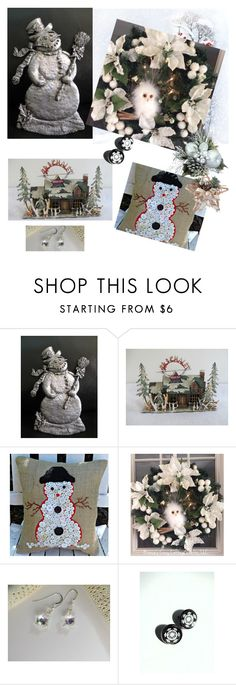 """""""Winter Wonderland"""" by boardartistry ❤ liked on Polyvore featuring interior, interiors, interior design, home, home decor, interior decorating, christmas2016, etsychaching and supportsmallbusiness"""