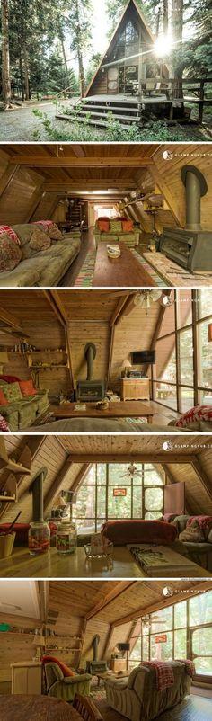 An A-frame cabin San Jacinta, California