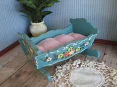 Vintage DORA KUHN Doll Furniture Cradle in Larger by TheToyBox