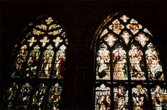 PLECA: a stained glass that depicts the history of the world ever since The Fall