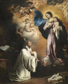 Aparición de la Virgen a san Bernardo / The Apparition of the Virgin to Saint Bernard // ca. 1655 // Murillo