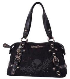 harley davidson clothing for women | Harley-Davidson® Womens Skull Jacquard Satchel *SK5800J ...