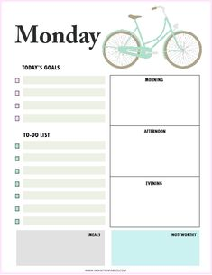 Download this FREE daily planner printable! #dailyplanner #printable #planner #homeprintables