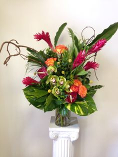 tropical, ginger, cymbidiums, circus roses,anthuriums- Love In Bloom, Key West