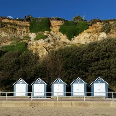 Beach Hut bonanza! Beautiful January morning for a stroll in Poole, Dorset xxx