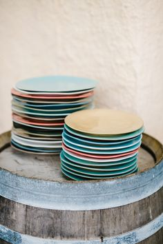 Multicolored Plates Weddingdecor Teller - CHARMEWEDD
