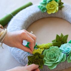 Is your front door needing a little refresh? Succulent wreath to the rescue!