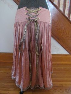 Altered Re-sized Midi Maxi Silk Lace Up Skirt by GaleFridays