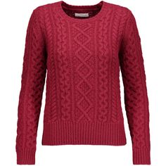 ISABEL MARANT ETOILE Nilsen cable knit wool sweater ($305) ❤ liked on Polyvore featuring tops and sweaters
