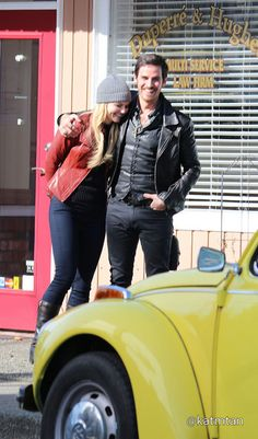 Jennifer Morrison & Colin O'Donoghue on set - March 3, 2015