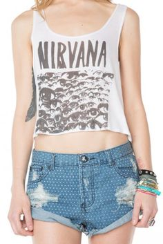 Brandy ♥ Melville | Mirella Nirvana Tank - Clothing $15