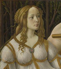 Botticelli: Venus & Mars, detail head of Venus    London National Gallery