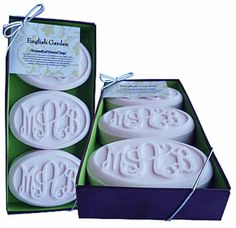 tinytulip.com - Monogrammed Carved Soap, $24.00 (http://www.tinytulip.com/monogrammed-carved-soap)