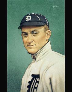 Baseball Art, Sports Art, Detroit Tigers, Cards, Vintage, Sports, Illustrations, Maps, Vintage Comics