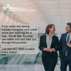 If you really are having trouble managing your credit score and applying for a loan, Credit Star Funding can assist you and walk you through the process. Call to learn more today! How To Remove, How To Apply, Credit Report, Do You Know What, Credit Score, Scores, Star, Learning, Business