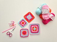 Lovely colours  maRRose - CCC: granny square love/Simply Crochet