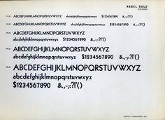 Kabel bold type specimen.