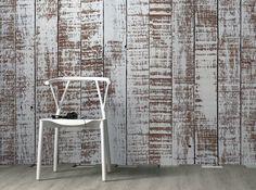 carta da parati effetto legno grezzo