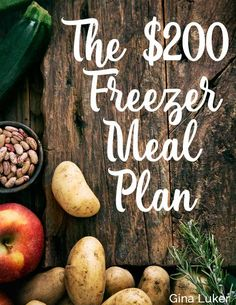 This lady made a month of freezer meals in one afternoon for $200 in four hours. Definitely trying this one! (pinned over 100,00 times!)