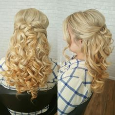 Voluminous, sexy half up half down hair for this bride to be! Hair by @danaraiabridal www.danaraiabridal.com
