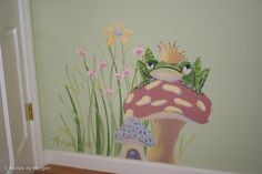 frog murals kid rooms | Fairy Tale Mural - The Frog Prince Detail - Hand Painted Wall Murals ...