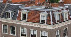 De trouw der burgerij ... 1766 hoek Hoogstraat - Nieuwe Rijn