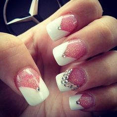 Beautiful french manicure for bridesmaids!! Check now!!