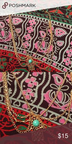 Gold & turquoise hamsa hand 🤚Headpiece headband Gold with turquoise bead hairband, headband. Super boho vibes, Coachella, beach party perfect for festival season Accessories Hair Accessories