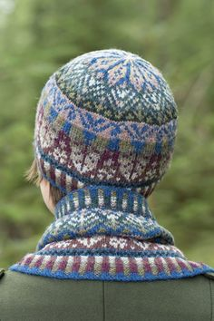 Oregon Hat Set design patterncard kit by Alice Starmore in Hebridean 2 Ply pure British wool hand knitting yarn