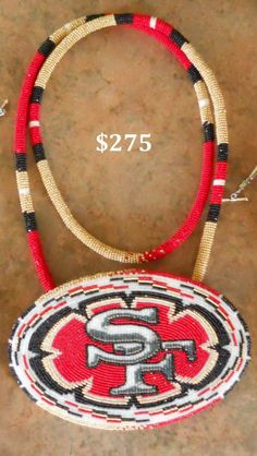 Native American beaded earrings 49ers