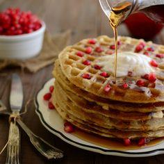 Simple Oat Waffles